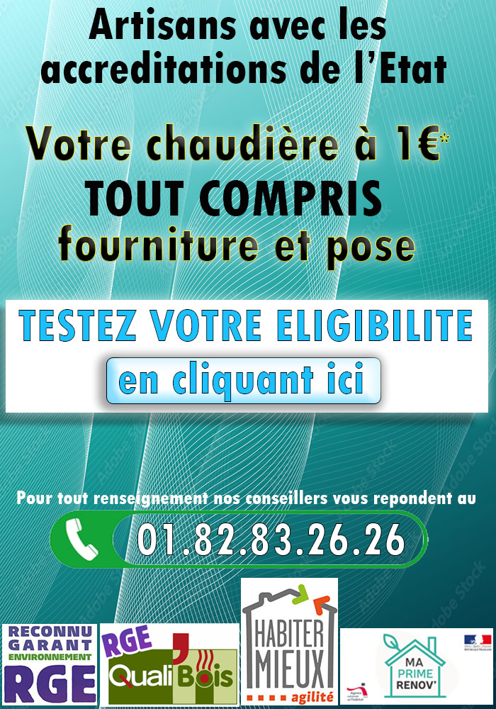 Chaudiere 1 Euro Louvres 95380
